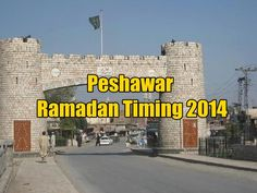 Peshawar Ramadan Timing 2014
