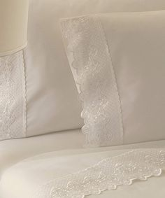 Another great find on #zulily! Ivory Claudia Cotton Sheet Set by Colonial Home Textiles #zulilyfinds