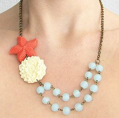 Starfish Jewelry Flower Necklace  by zafirenia,