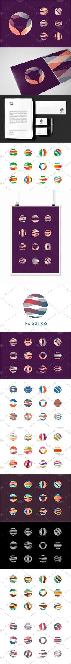 Globe/Sphere Logo Set. Logo Templates