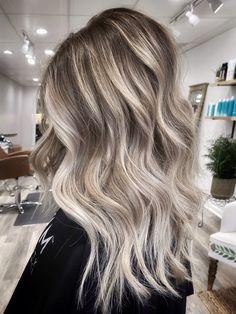 High contrast Balayage Highlights, Blonde Balayage, Blonde Hair Looks, High Contrast, Hair Colour, Ombre Hair, Hair Goals, Hair Ideas, Hair Makeup