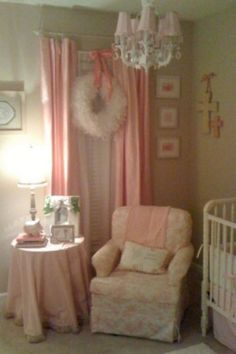 New pics of shabby chic pink nursery