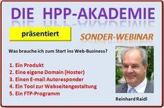 """In der HPP-Reihe """"Sonder-Webinare""""  stellen wir vor:  Business Starter-Tools  >"""