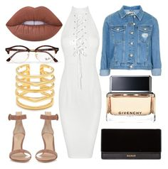 """""""outfif of the night"""" by braiwalui on Polyvore featuring Gianvito Rossi, Lime Crime, Stella & Dot, Topshop, Balmain, Givenchy and Ray-Ban"""