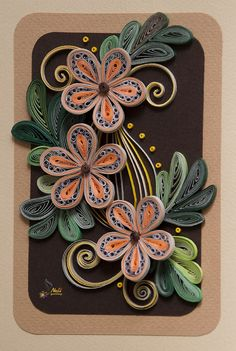 Neli is a talented quilling artist from Bulgaria. Her unique quilling cards bring joy to people around the world. She presents one beautiful quilling design after another! - by: Neli Beneva Usually I'm not big of quilling, but this one is amazing. Neli Quilling, Paper Quilling Cards, Paper Quilling Tutorial, Paper Quilling Flowers, Paper Quilling Patterns, Quilled Paper Art, Quilling Craft, Quilling Designs, Quilling Ideas