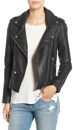 faux leather moto jacket by blank nyc on shopstyle