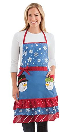 Christmas Snowman Kitchen Apron