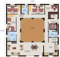 Casa de 4 quartos e patio interior
