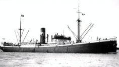 ALWAKI Bouwjaar 1922, grt 4537 Eigenaar Van Nievelt, Goudriaan & Co.'s  Stoomvaart Maatschappij N.V., Rotterdam http://koopvaardij.blogspot.nl/2016/07/10-juli-1940.html
