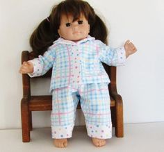 b0ebe8037 Fits Dolls Like Bitty Baby- Doll Clothes 15 Inch Baby Doll Clothes Pajamas
