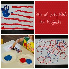 4th of July Kids art Projects