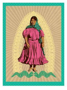 vdeguadalupe: Cervantes, Melanie. Tonantzin. 2011. Tonantzin is a representation of mother earth...