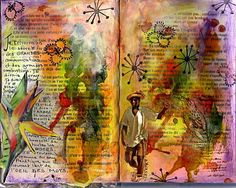 art journal or altered book