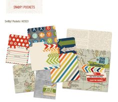 Simple Stories - SNAP Collection - Memorabilia Pockets - Urban Traveler at Scrapbook.com $5.99