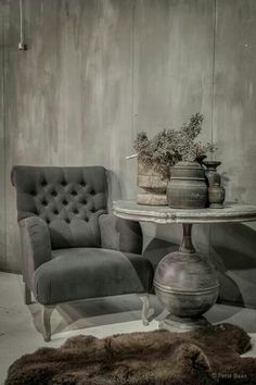 Pinned from This Ivy House Decor, Furniture, Interior, Home Decor, Gray Interior, House Interior, Rustic Living, Interior Design, Rustic Interiors