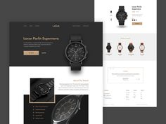 Wrist Watch Landing Page by simantOo for AGT on Dribbble Design Responsive, App Ui Design, Brochure Design, Flat Design, Website Design Layout, Website Design Inspiration, Design Layouts, Architecture Art Design, Landing Page Design