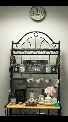 Turn A Baker S Rack Into A Cute Coffee Bar I Could Store