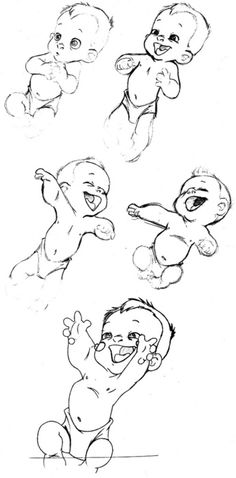 Baby Tarzan Production Drawings ✤ || CHARACTER DESIGN REFERENCES | キャラクターデザイン • Find more at www.facebook.com/... if you're looking for: #lineart #art #character #design #illustration #expressions #best #animation #drawing #archive #library #reference #anatomy #traditional #sketch #artist #pose #settei #gestures #how #to #tutorial #comics #conceptart #modelsheet #cartoon #infants #baby || ✤