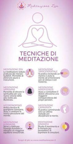 tecniche di meditazione infografica