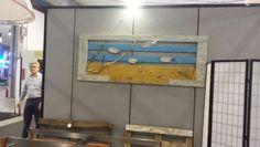 Porta recuperata con piu di 100 anni di storia trasformata in un acquario marino utilizzando materiali di recupero pezzo unico . ENRICO arte&design
