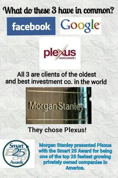 """Plexus - Morgan Stanley presents Plexus with the """"Smart 25 Award"""" for being one of the top 25 fastest growing privately owned companies in America! Want more info? http://www.cindyknowles.myplexusproducts.com/"""