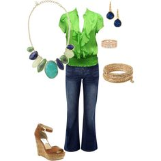 Casual Serenity, created by yowza613 on Polyvore featuring the Stella & Dot - Serenity Necklace  http://www.stelladot.com/denikaclay