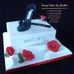 shoe cake , jimmy choo birthday cake