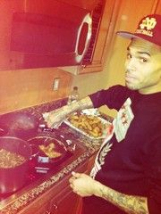 Chris Brown cooking? This is so sexy!