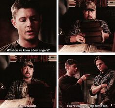 [SET OF GIFS] 4x02 Are You There, God? It's Me, Dean Winchester