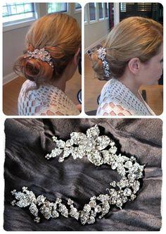 Swarovski Bun Wrap Bridal Hair Vine Crystal by EdenLuxeBridal