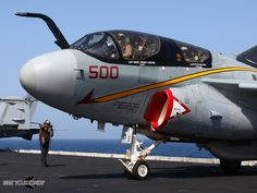 The EA-6B Prowler's last cruise on November 2015. VAQ-134 'Garudas' flew off the USS George H.W. Bush for their home base at NAS Whidbey Island, marking the historic end of what was the EA-6B Prowler's final carrier cruise.