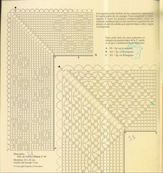 Платочек с вязаной крючком каймой 14 схема 1