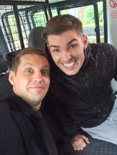 The Amazing and Wonderful Actors James Sutton & Kieron Richardson filming together LOVE IT <3 @thejamessutton @MrkieronR #McHay #Hollyoaks