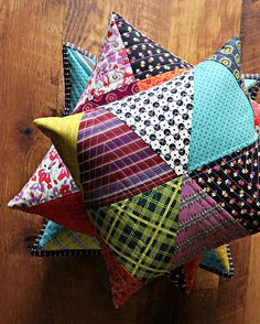 Chicopee Patchwork Pillows by maureencracknell, via Flickr
