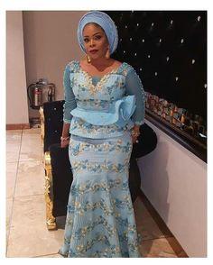 Nigerian Lace Styles, Nigerian Dress, African Lace Styles, African Lace Dresses, African Dresses For Women, African Attire, Ankara Styles, African Blouses, Ankara Designs