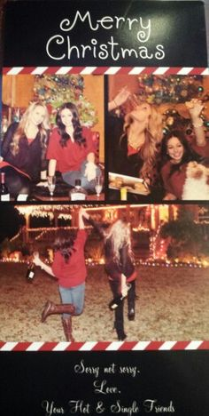 Hot Single drunk girls Christmas card wine roommates best friend dog lights perfection sorry not sorry christmas pose  @Courtney Plaisance  @brittgary