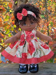 """Anemone"" Dress Set for My Child Doll #SerendipityStudio #ClothingAccessories"