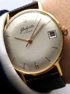 Glashütte watch with leather strap