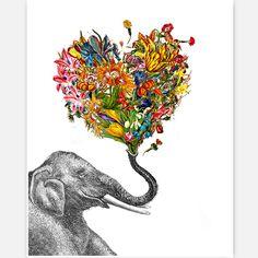 Happy Elephant by Rococco-LA