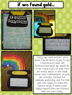 If I found gold....... St Patrick's Day craft and writing prompt!