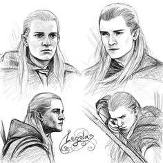 Legolas sketches by ~Manweri on deviantART