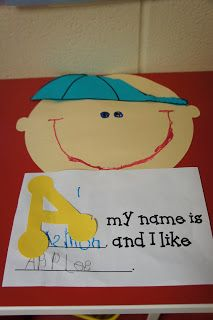 Kindergarten Khronicles: All About Me!! (read with A My Name is Alice and make our own book)