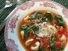 WW Tortellini Tomato Spinach Soup recipe