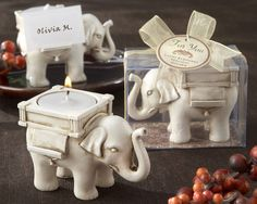 """Lucky Elephant"" Tea Light Holder. Wedding gifting ideas.  