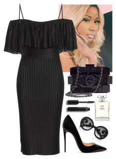 Interviewing Nicki by baeisme on Polyvore featuring polyvore fashion style Givenchy Christian Louboutin Chanel Prada clothing