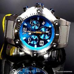 Invicta Speedway XL Verde Azulado Azul De Acero Inoxidable Cronógrafo Reloj De Piezas Suizo Nuevo