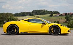 """View Gray Matters: Novitec Rosso Makes Ferrari 458 Speciale More """"Speciale"""" Photos from Car and Driver. Find high-resolution car images in our photo-gallery archive. Ferrari 458, Maserati, Lamborghini, Foto Cars, Automobile, Yellow Car, Car Images, Car Tuning, Car And Driver"""