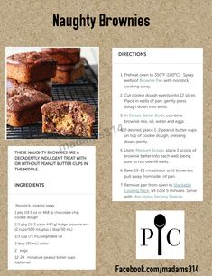 These Naughty Brownies are so easy to make. Don't blame me if your family bu. Pampered Chef Desserts, Pampered Chef Egg Cooker, Pampered Chef Party, Pampered Chef Products, Muffin Tin Recipes, Fun Baking Recipes, Free Recipes, Brownie Pan, Brownie Recipes