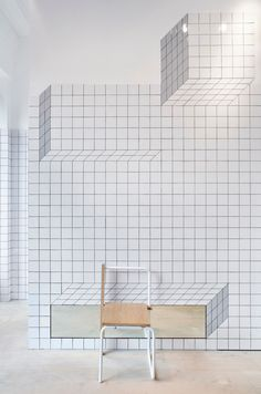Camper Store in Glasgow by Tomás Alonso | http://www.yellowtrace.com.au/white-tiles-with-black-grout/