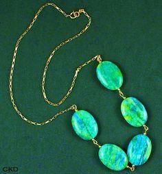 Maxi colar com jaspe green blue para colorir seu look!1 www.ckdsmeijoias.com.br